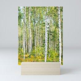 Sunny Day in Beautiful Birch Grove Landscape #decor #society6 #buyart Mini Art Print