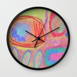 Colorful Abstract Art Wall Clock
