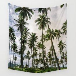 Palm Trees Kauai Hawaii Printable Wall Art | Tropical Beach Nature Ocean Coastal Travel Photography Print Wall Tapestry