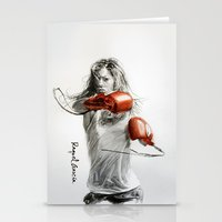 boxing Stationery Cards featuring Boxing by Raquel García Maciá