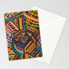 Another Light to Coney Island, Brooklyn NYC landscape by Joseph Stella Stationery Cards
