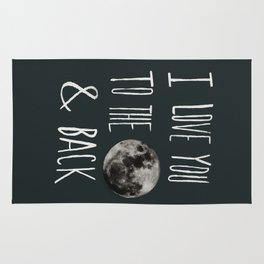 I Love You to the Moon Rug