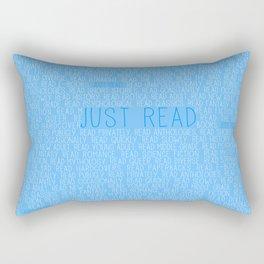 Just Read Blue Rectangular Pillow
