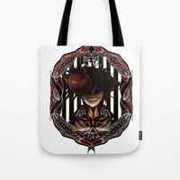 kingdom hearts Tote Bags featuring Kingdom Hearts Nightmare before christmas Sora by Shade-Umbra