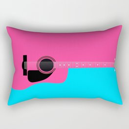 Pink Acoustic Guitar Background Rectangular Pillow