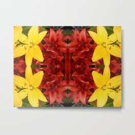 """A Gathering of Lilies"" Remix - 3 (2-1) [D4468~49] Metal Print"