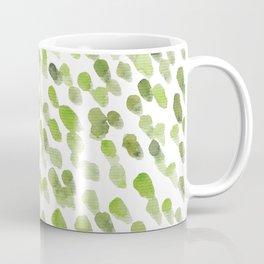 Imperfect brush strokes - olive green Coffee Mug