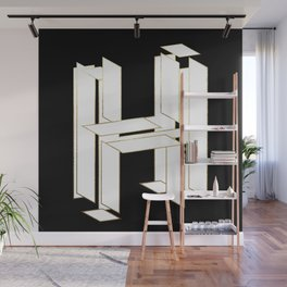 Beautiful Armor Letter H Wall Mural