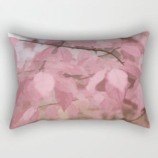 Soft Pastel Leaves  Rectangular Pillow