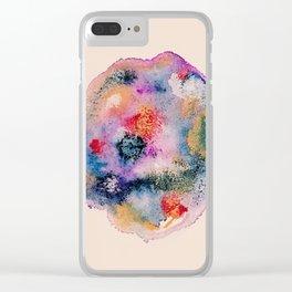 watercolor splotch Clear iPhone Case