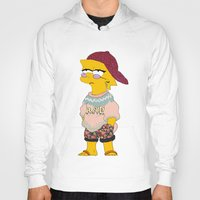 simpson Hoodies featuring chic lisa simpson by Sara Eshak