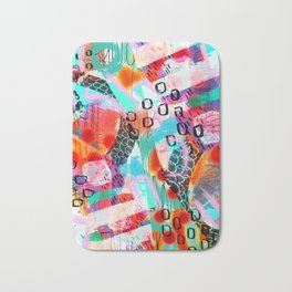 Colorful and vibrant digital abstract design Bath Mat
