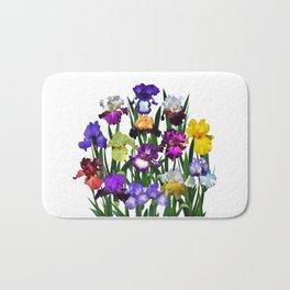 Iris garden Bath Mat
