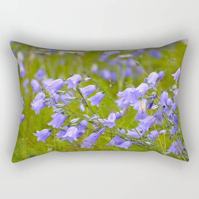 Bluebells Meadow #decor #society6 Rectangular Pillow