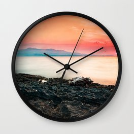 Sunset at sea IV Wall Clock