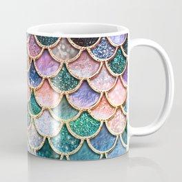 Multicolor Pink And Aqua Mermaid Scales - Beautiful Abstract Glitter Pattern Coffee Mug