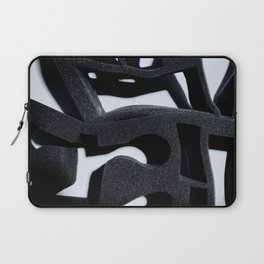 Shadow of Foam Abstract One BW Pattern Laptop Sleeve