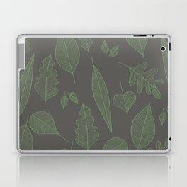 Falling Leaves Pattern I Dark Laptop & iPad Skin