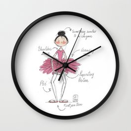 ballerina3 Wall Clock