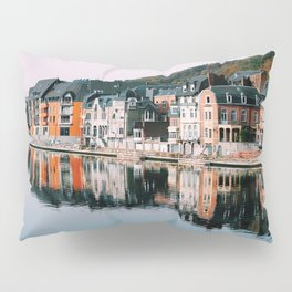 VILLAGE - HOUSE - RIVER - REFLECTION - PHOTOGRAPHY Pillow Sham