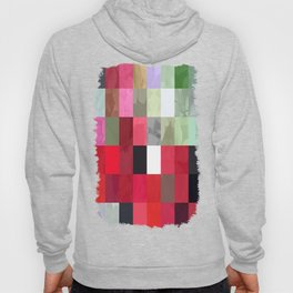 Mixed color Poinsettias 1 Abstract Rectangles 3 Hoody