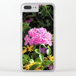 Peppermint Twist Garden Phlox in the Flower Garden Clear iPhone Case