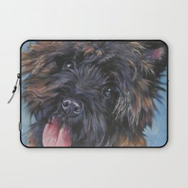Beautiful Cairn Terrier from an original painting by L.A.Shepard Laptop Sleeve