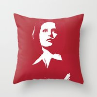 dana scully Throw Pillows featuring Dana Scully - Whammy by Laura