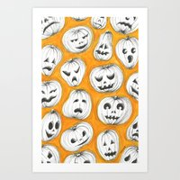 pumpkin Art Prints featuring Pumpkin by Saoirse Mc Dermott