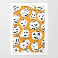 pumpkin Art Prints featuring Pumpkin by Saoirse Mc Dermott