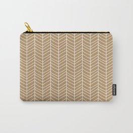Chevron Light Brown Carry-All Pouch