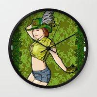 peter pan Wall Clocks featuring Peter Pan. by Benimarudo
