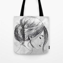Hand drawn beautiful woman Tote Bag