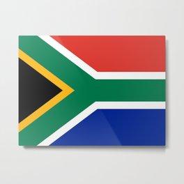 South African Flag Metal Print