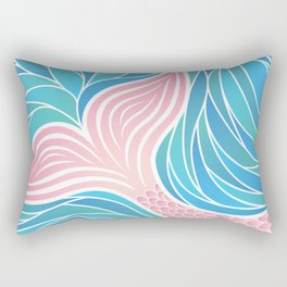 Pink Mermaid's Tail Rectangular Pillow