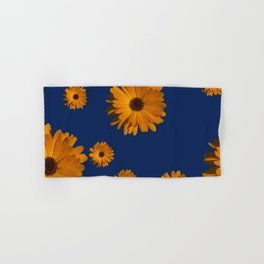 Orange power flower Hand & Bath Towel