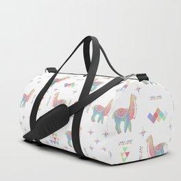 Colorful Alpaca Duffle Bag