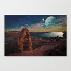 Space Desert Canvas Print