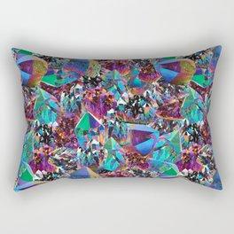Oil Sick Rainbow Aura Crystals Rectangular Pillow