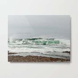 Explosive Green Surf of the St-Lawrence Metal Print