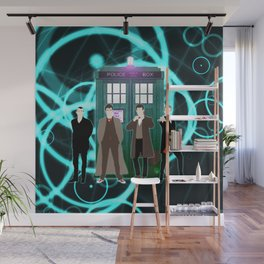 The Doctors And Tardis Wall Mural