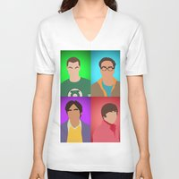 the big bang theory V-neck T-shirts featuring The Big Bang Theory by Tom Storrer