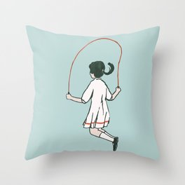 Rope skipping Throw Pillow