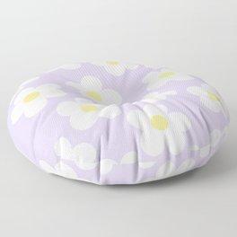 Lavender 70's Retro Flower Power Floor Pillow