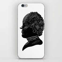 Silhouette of a Gentleman iPhone Skin