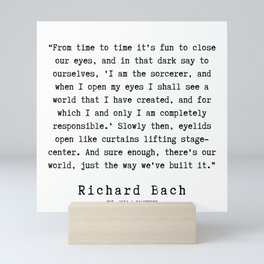 76  | Richard Bach Quotes | 190916 Mini Art Print