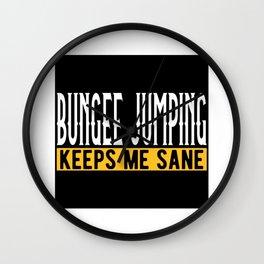 Bungee Jumping Lovers Gift Idea Design Motif Wall Clock