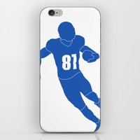 allyson johnson iPhone & iPod Skins featuring Calvin Johnson by OligerIllustrations