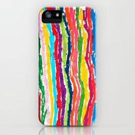 Coloured crayon stripes iPhone Case