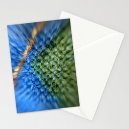 Microscopic photography Stiching on printed cotton quilt Stationery Cards